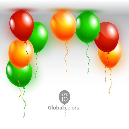 ベクトル イラストお誕生日おめでとう。発表ポスターチラシ ・ グリーティング カード