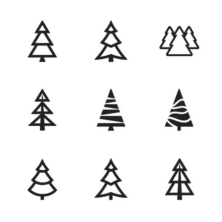 Simple trees collection Ilustrace