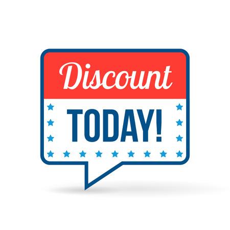Rabatt-Tag für Online-Shops in flacher Bauform. Verwenden Sie für Etiketten, Aufkleber und Symbole Standard-Bild - 37607138