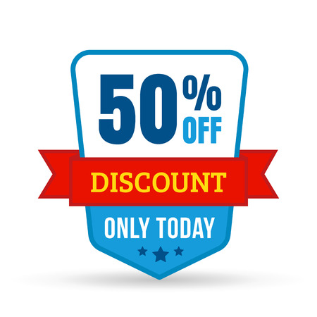 Discount tag for online shop in flat design. Use on labels, stickers and icons 일러스트