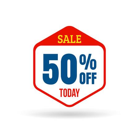 Verkauf Tag für die Online-Shops in flacher Bauform. Verwenden Sie für Etiketten, Aufkleber und Symbole Standard-Bild - 37612669