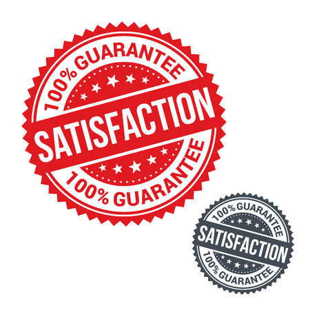 Vector stamp 100% satisfaction guarantee. Use for label, sign or sticker