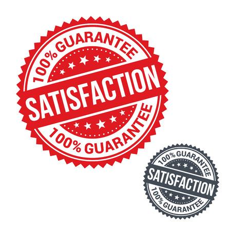 Vector stamp 100% Zufriedenheitsgarantie. Verwenden Sie für Etiketten, Zeichen oder Aufkleber Standard-Bild - 37612670