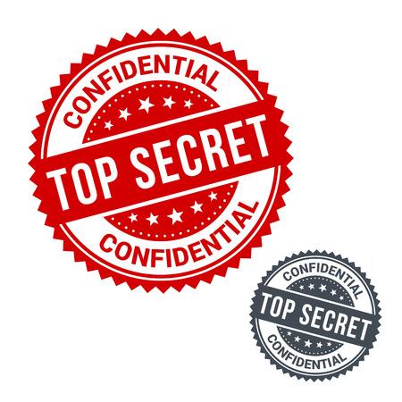 Vector stamp top secret. Use for label, sign or sticker Illustration