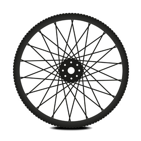 spoke: Bike wheel - illustration on white background