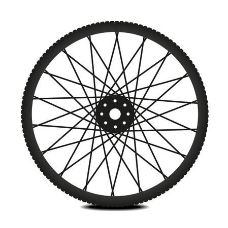 felgen: Fahrrad-Rad - Illustration auf wei�em Hintergrund Illustration