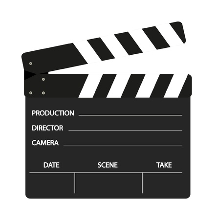 clapper board: Film Flap