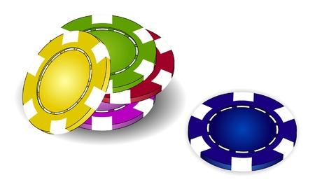 Poker Chips  Stock Vector - 10225622