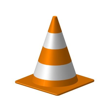 Orange cone Stock Vector - 10225637