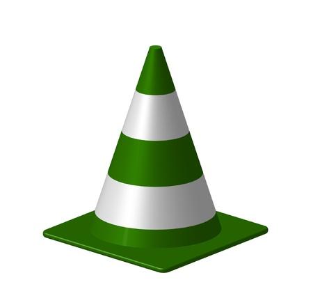 under control: Green cone Illustration