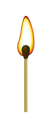 matchstick: Match with fire Illustration
