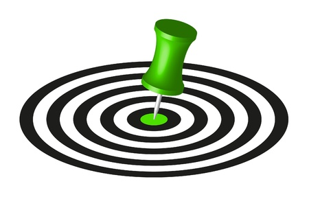 Target with green pin Stock Vector - 10225680