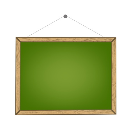 A chalk board in green colour on white background without text (clean) Vector