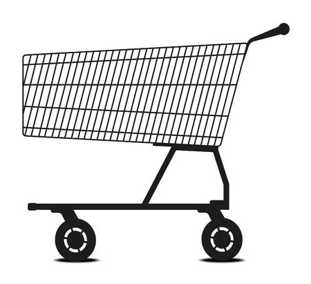 carro supermercado: Carro de compras  Vectores
