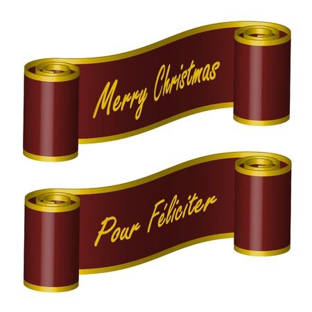 Ribbon – Merry Christmas, PF Stock Vector - 10410698