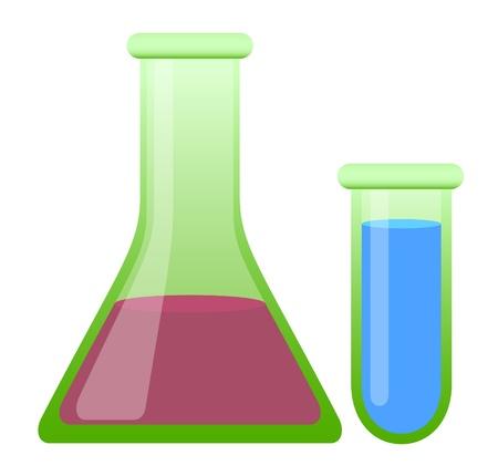 Chemical glass – Test Tube Vektorové ilustrace