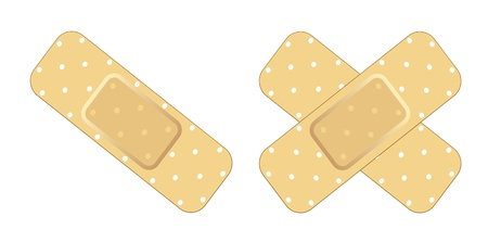 Venda adhesiva Ilustración de vector