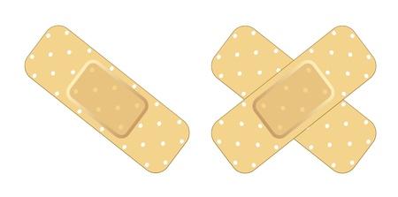Zelfklevend Verband Vector Illustratie
