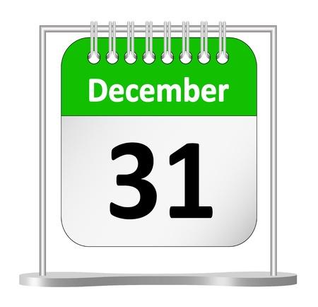 calendario diciembre: Último día del año, el 31 de diciembre