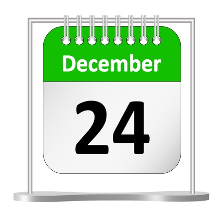 Calendar – December 24th  Vector