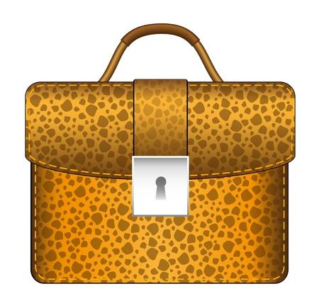 Luxury brown briefcase Vector