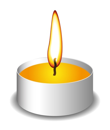 candle flame: Candle with flame