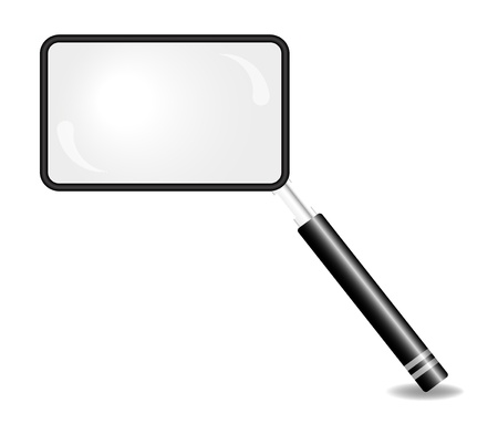 magnification icon: Rectangular magnifying glass Illustration