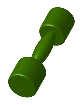 Green dumbbell Stock Vector - 11060112