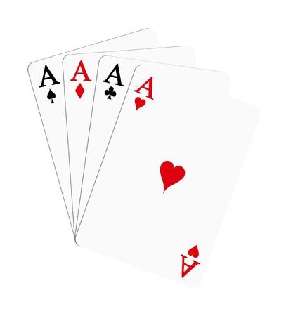 Hrací karty - esa (poker) Ilustrace