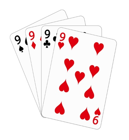 Playing cards - nine (poker) Vector