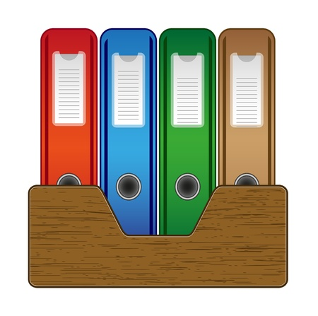 Office folders Stock Vector - 11133870