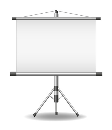screen: Projection screen (projector roller screen ) Illustration