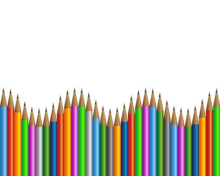 Colored pencils frame  Illustration