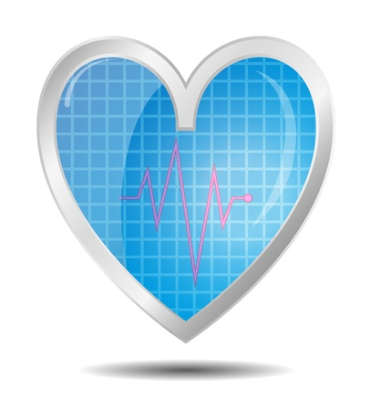 Diagnostics heart Stock Vector - 11231484