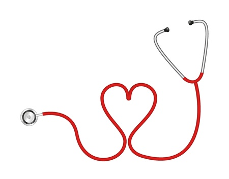 caregivers: Stethoscope in shape of heart
