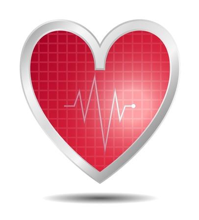 bosom: Diagn�stico en el dise�o del coraz�n de color rojo Vectores
