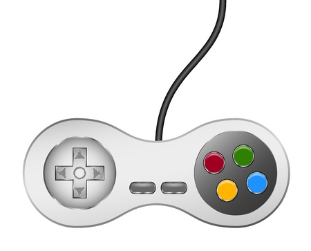 gamepads: Retro controller (joystick) with usb cable Illustration