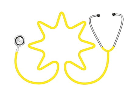 cardiac care: Stethoscope in shape of star