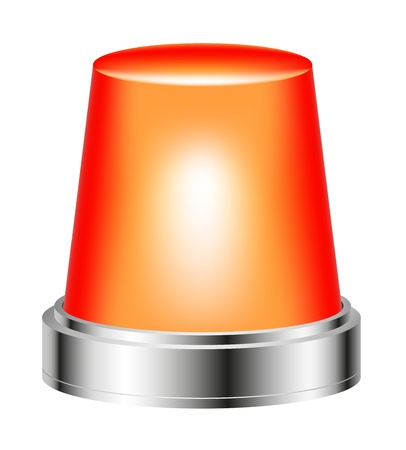 red siren: Orange flashing siren Illustration