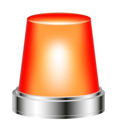 emergency attention: Orange flashing siren Illustration