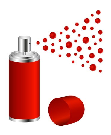 exterminate: Spray in red design