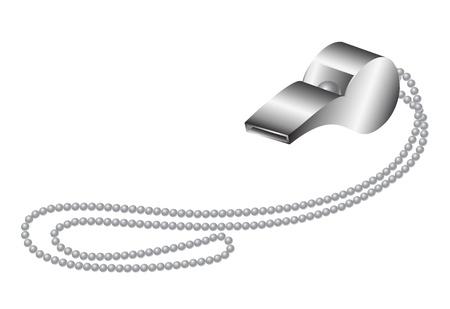 whistle: Metal whistle Illustration