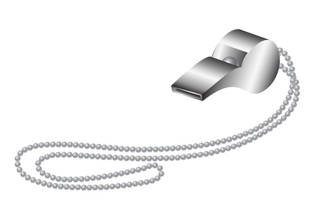 Metall-Pfeife Illustration