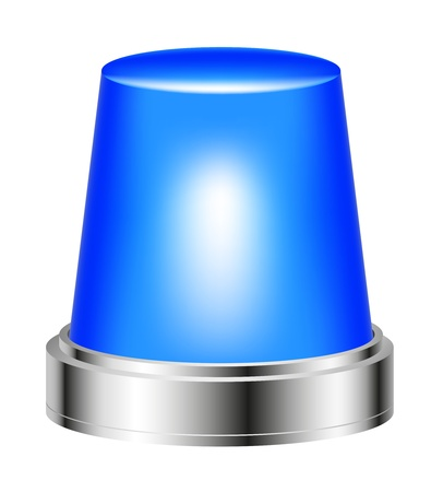 emergency light: Blue flashing siren