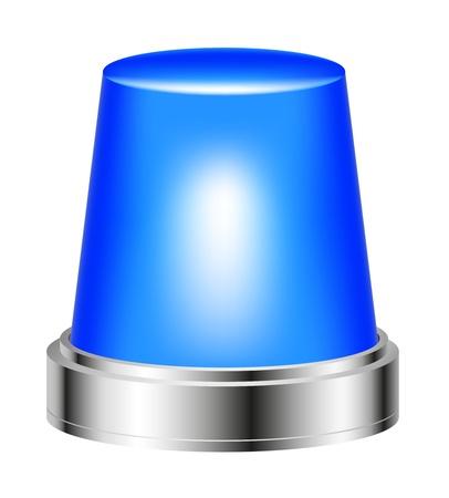 distraught: Blue flashing siren