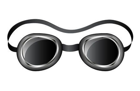 Retro motorcycle goggles Vector