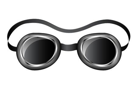 goggles: Retro motorcycle goggles