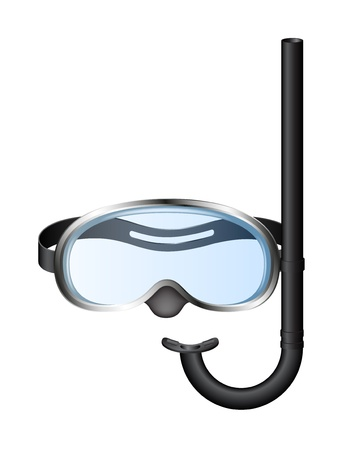 Snorkel and mask for diving Vettoriali
