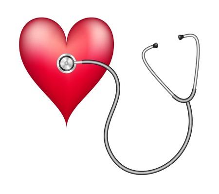 Stethoscope and Heart Ilustracja