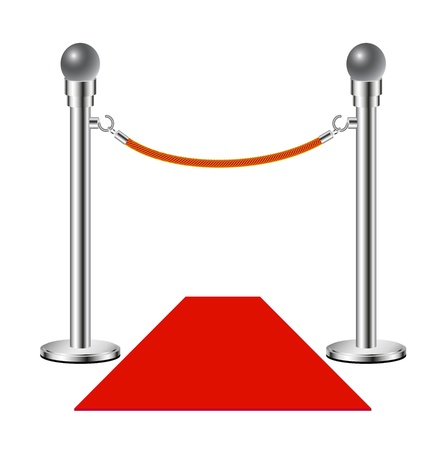 Red carpet – No entry Vector